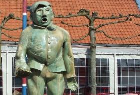 De groene gaper ontvangt u als symbool voor Kaprijkenaren en Lembekenaren
