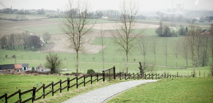 Een afbeelding van Ronde van Vlaanderen fietsroute: blauwe lus