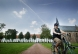 Fietsen in het Begijnhof van Dendermonde
